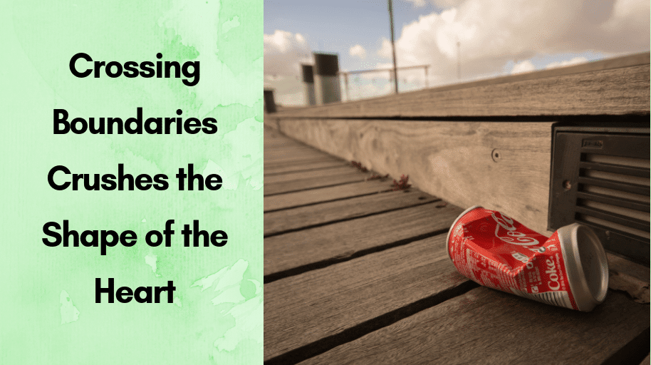 Crossing Boundaries Crushes the Shape of the Heart